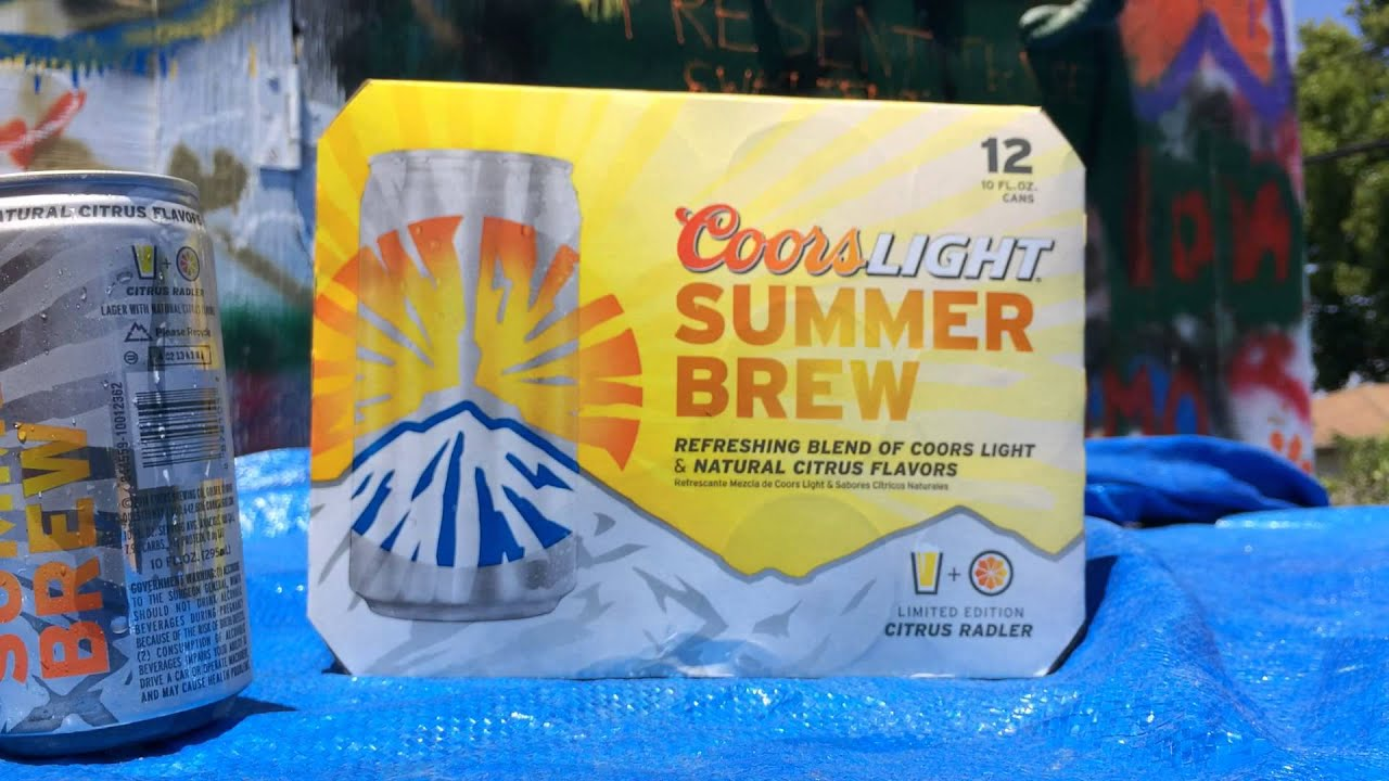 Coors Light Summer Brew Beer Review Youtube