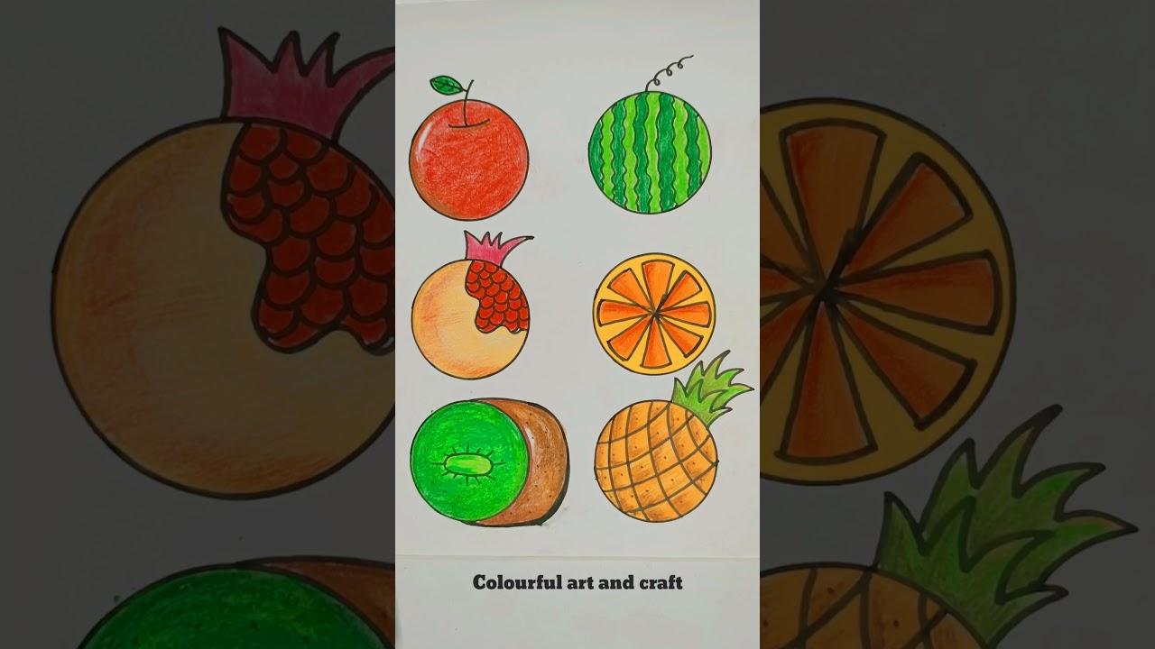 Fruit Drawing with circle #shorts #short