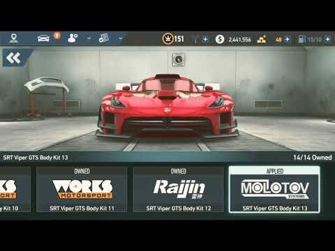 NFS No limits ( New style super car SRT viper GTS 👌 Rocket Bunny Body kit )