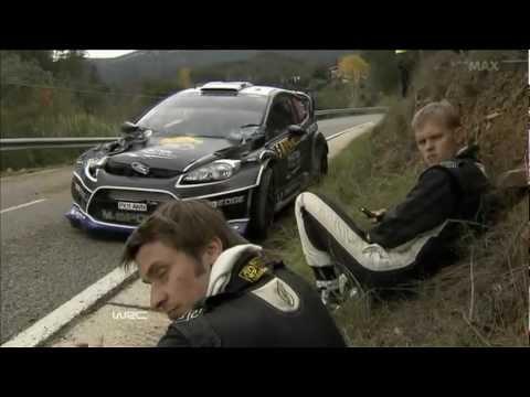 Ott Tänak Crash in Rally Spain 2012
