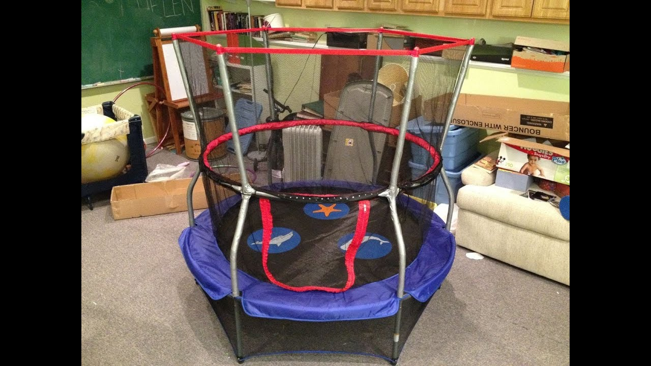 how to assemble a skywalker trampolines 60 inch round seaside adventure bouncer with enclosure youtube