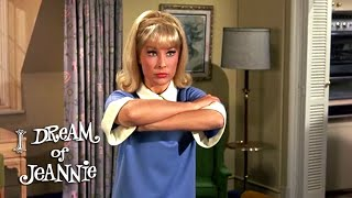After being grounded for failing an eye test, Tony (Larry Hagman) doesn't want Jeannie (Barbara Eden) to find out and start interfering! From Season 2 Episode ...