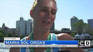 Maria Sol Ordas competira por las semifinales en remo - Buenos Aires 2018