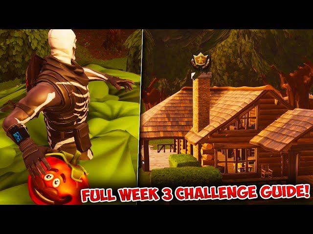 Fortnite: FULL WEEK 3 CHALLENGES GUIDE!   Battle Royale Season 6 TREASURE! Challenge Tips & Tricks!