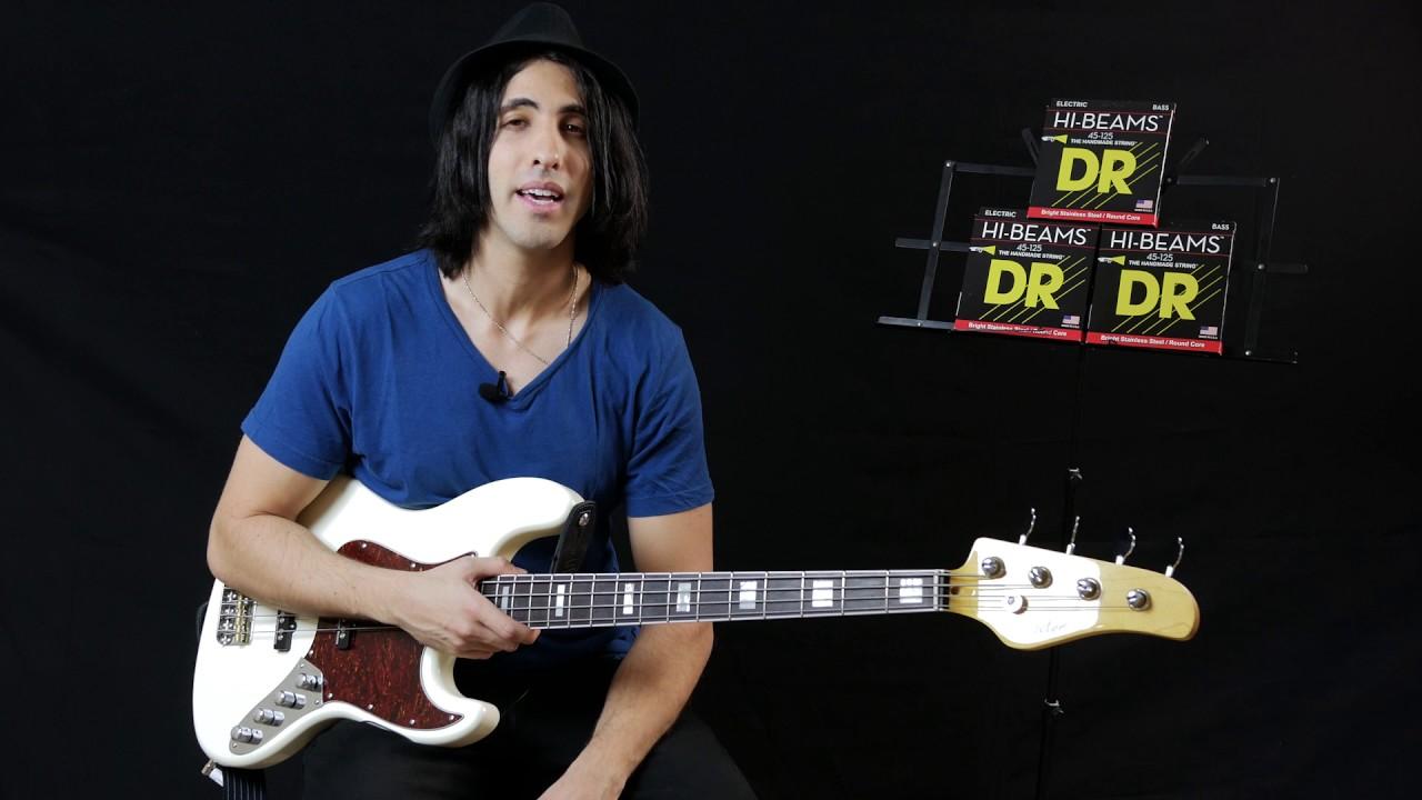 Dr Strings Hi Beam Bass Strings Demo Youtube