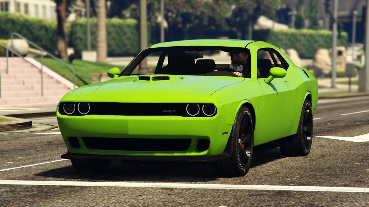 GTA V Dodge Challenger Hellcat Mod - YouTube
