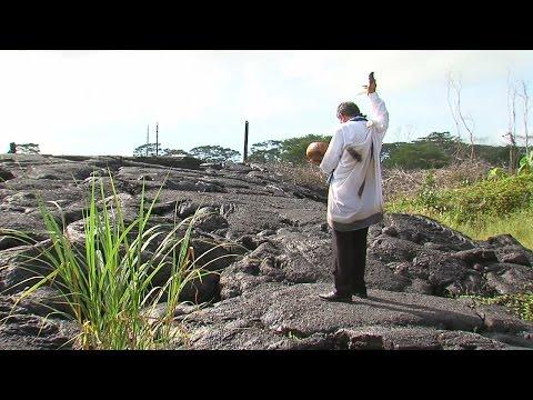Hawaiian Blessing Before Lava Removal in Pahoa