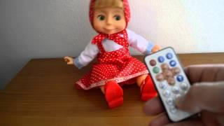 bambola di Masha e l'orso кукла Маша и медведь с пультом управления doll Masha and the bear 35 cm