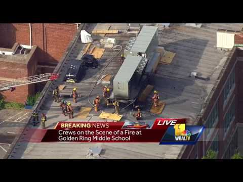 Fire under investigation at Golden Ring Middle School