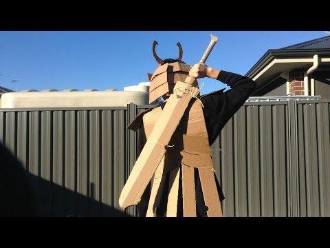 Cardboard Samurai Sword!!!   BINDER II ?!?!?!