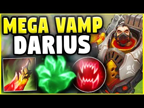 THIS NEW UNLIMITED HEALING BUILD MAKES DARIUS GOD-TIER! (10,000+ HEALING) - League Of Legends