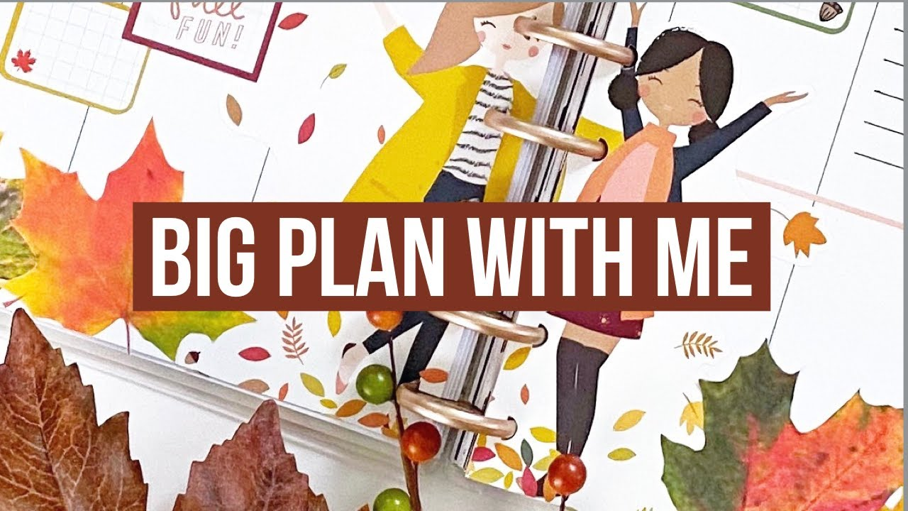 Plan With Me // Big Happy Planner // Another Fall Spread for one of my Patrons! // Squad Goals