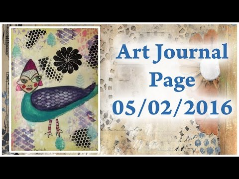 Bird Woman In My Art Journal