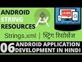 #Android App Development Tutorial in Hindi-6-String Resources -Learn with Milind-हिंदी