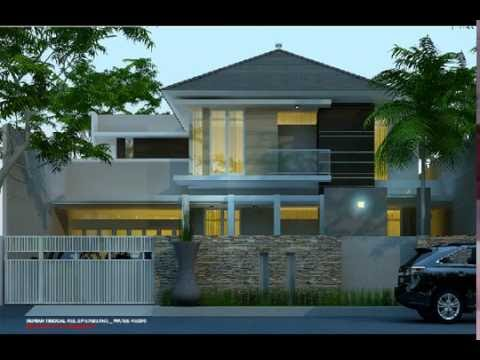 Desain Rumah Mewah 2 Lantai Kolam Renang Youtube