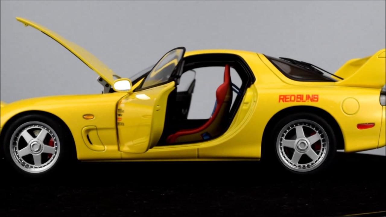Autoart Mazda Anfini Rx 7 Fd3s Initial D Legend Youtube