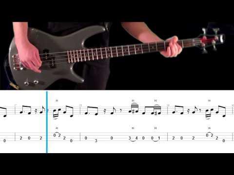 Mr. Brownstone Bass Tab and Play Along - Guns N' Roses