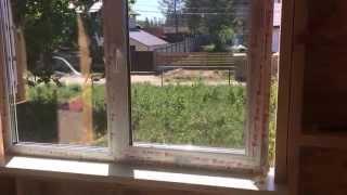 День 17. Установка пластиковых окон (стеклопакетов) в каркасный дом.(, 2015-06-05T16:07:20.000Z)