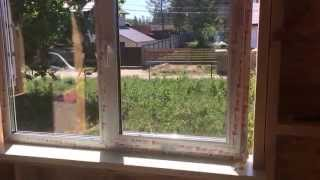 День 17. Ставим окна. Строим каркасный дом./ Day 17. Building a frame house by yourself(, 2015-06-05T16:07:20.000Z)