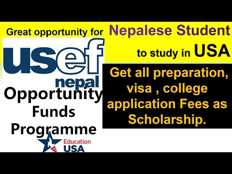 USEF Nepal's opportunity fund program || Study in USA || for Nepalese students