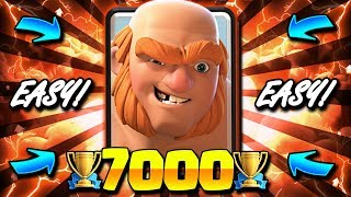 7000+ TROPHY NEW LADDER DECK IN CLASH ROYALE!! EASY GIANT META!