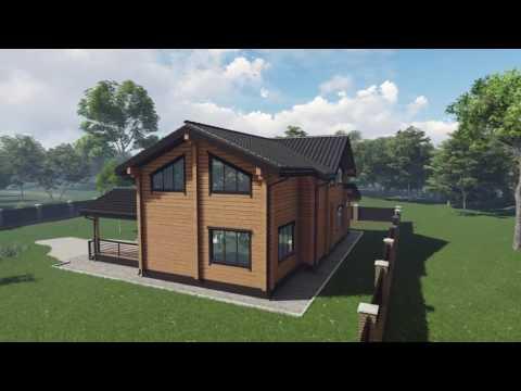 Аттика Стиль проектирование деревянных домов из клееного бруса проект  №2 184