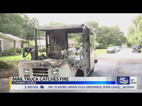 Postal Worker Saves Mail Moments Before Fire Destroys Truck In