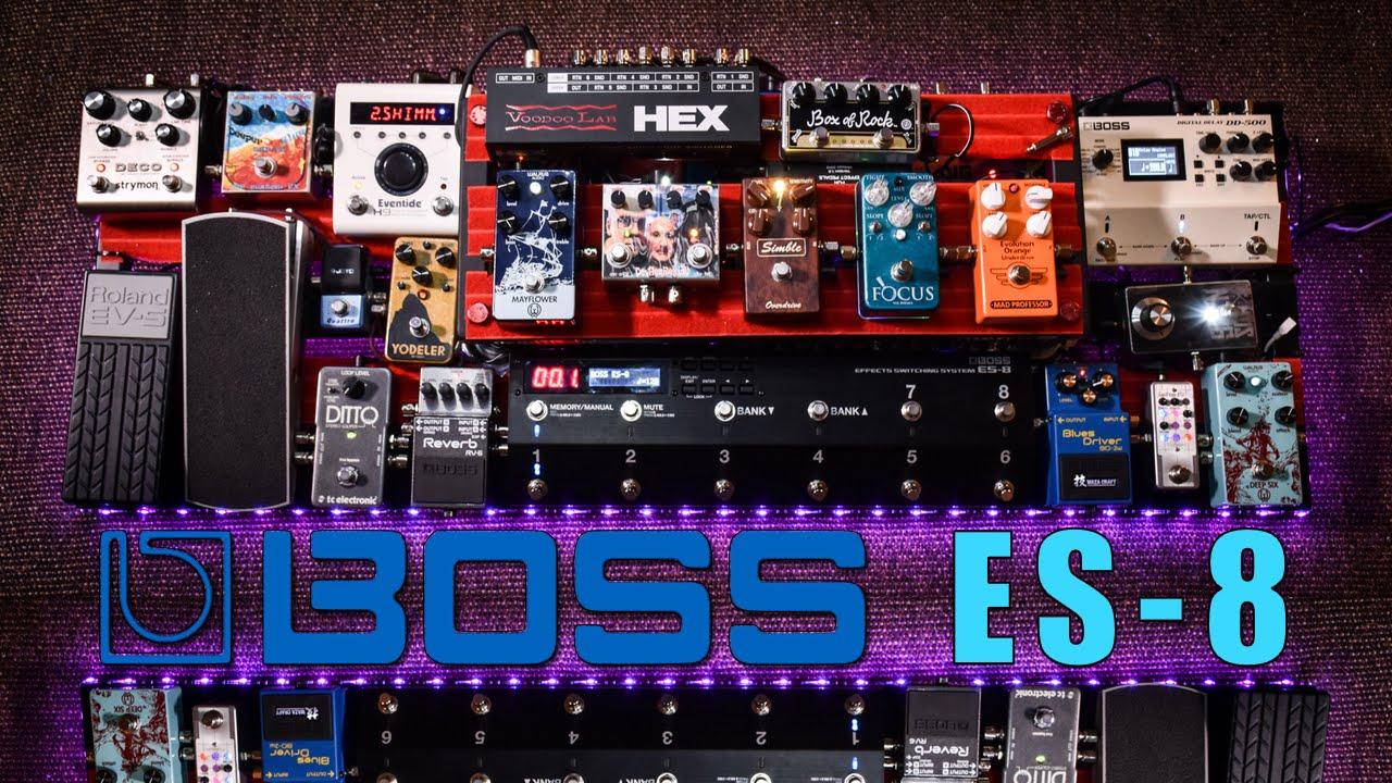 boss es 8 totally insane mega board a few sounds. Black Bedroom Furniture Sets. Home Design Ideas