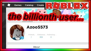 THE BILLIONTH ROBLOX USER ISN'T A SPAMBOT...WE WON!!! thumbnail