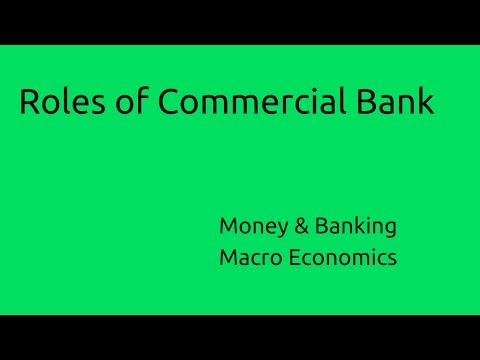 Roles of Commercial Bank | Budget | Money | Banking | CA CPT | CS & CMA Foundation | Class 11