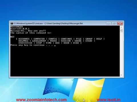 dos hacking commands