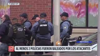 Alerta por tiroteo en Jersey City: Al menos dos policías fueron baleados por los atacantes