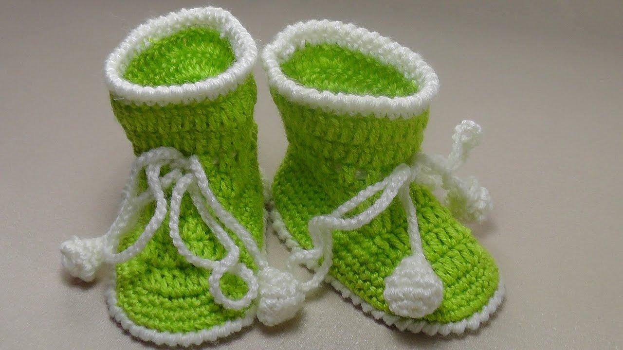 пинетки для новорожденного крючком самый легкий способ вязания