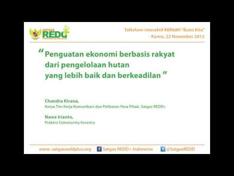 (Talkshow Radio) Penguatan Ekonomi Berbasis Rakyat dari Pengelolaan Hutan