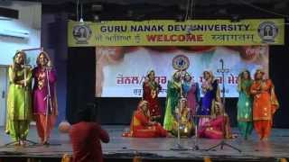 HMV college jalandhar Gidha 2014 winners of zonal& interzonal youth festival held at GNDU (amritsar)