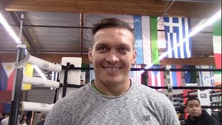 OLEKSANDR USYK TALKS ON FIGHTING MICHAEL HUNTER & CONTEMPLATES RAIDING HEAVYWEIGHT DIVISION