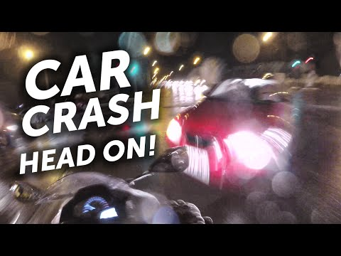 Car crash - head on collision with my motorbike