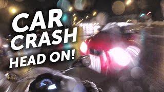 Car crash - head on collision with my motorbike