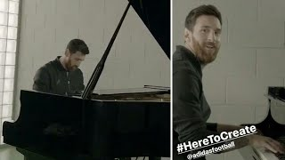 Messi playing the champions league anthem on the piano!!