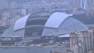 日本とブラジルが親善試合を行うシンガポールのナショナルスタジアム