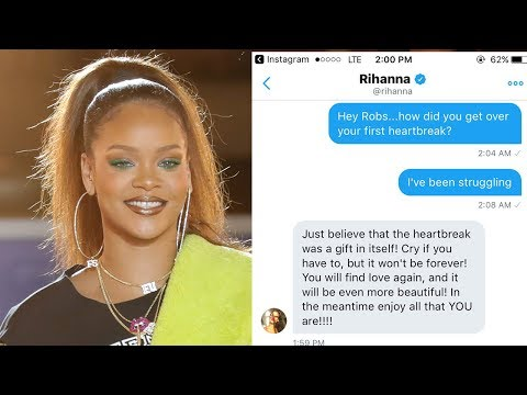 Rihanna Slides Into Fan's DMs To Help Them Get Over Their First Heartbreak