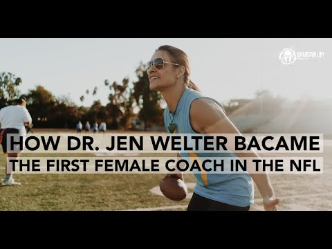 The first female coach in the NFL - Dr. Jen Welter / Interviewed by ...