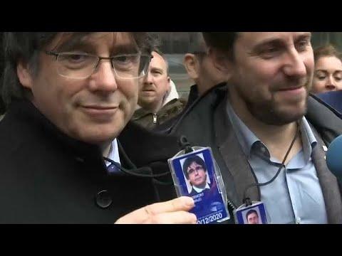 Dia histórico  para Carles Puigdemont que entra no Parlamento Europeu