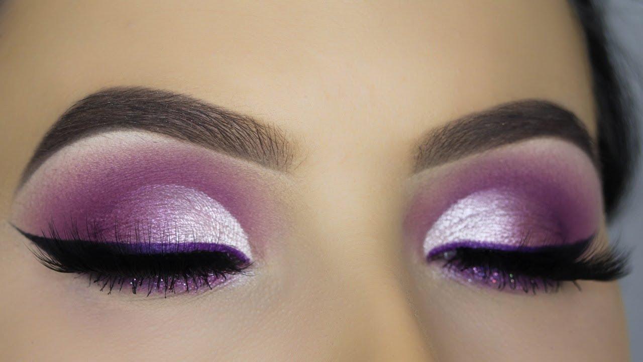 Purple Glam Cut Crease Makeup Tutorial