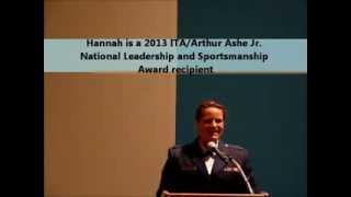 Hannah Dake Speaks to NJTL Arthur Ashe Essay Contest Winners