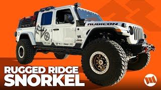 Jeep JL Wrangler JT Gladiator Truck AmFib Snorkel by Rugged Ridge HOW TO INSTALLATION