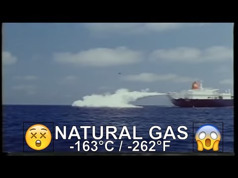 Gas Tanker - Jettisoning Liquid Gas -262°F (-163°C) On Open Sea