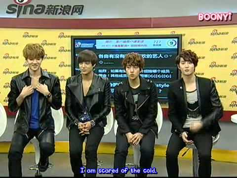 EXO K - 120918 Sina Live Chat (eng Subbed)