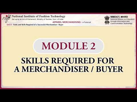 Apparel merchandising: skills and traits required of a successful merchandiser / buyer-1