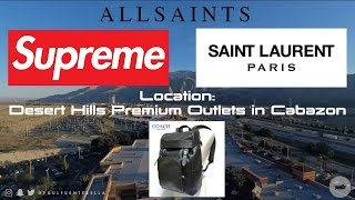 Shopping at the Outlets VLOGmas: Saint Laurent, All Saints, Coach and SUPREME prank!